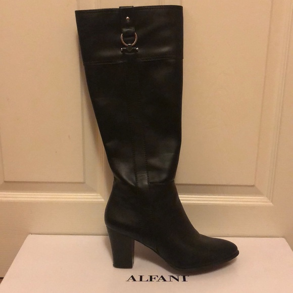 Shoes - Alfani Black Courtnee Boots only worn once.
